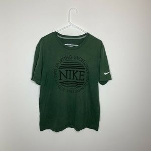 Nike Shirts - SOLDNike Mens L Green Big Logo Sporting Excellence